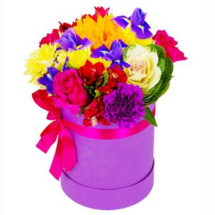 """Цветы в коробке """"Дольче вита"""""""