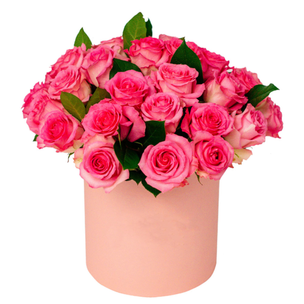 """Цветы в коробке """"Малиновый"""""""