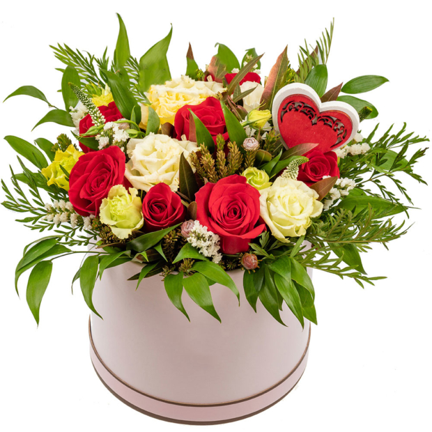 """Цветы в коробке """"Наслаждение"""""""
