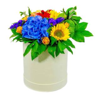 """Цветы в коробке """"Весеннее настроение"""""""