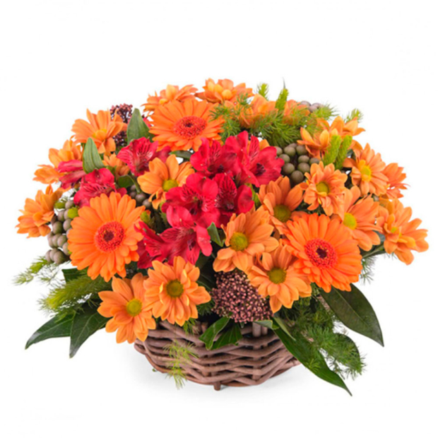 """Цветы в корзинке """"Акварель"""""""