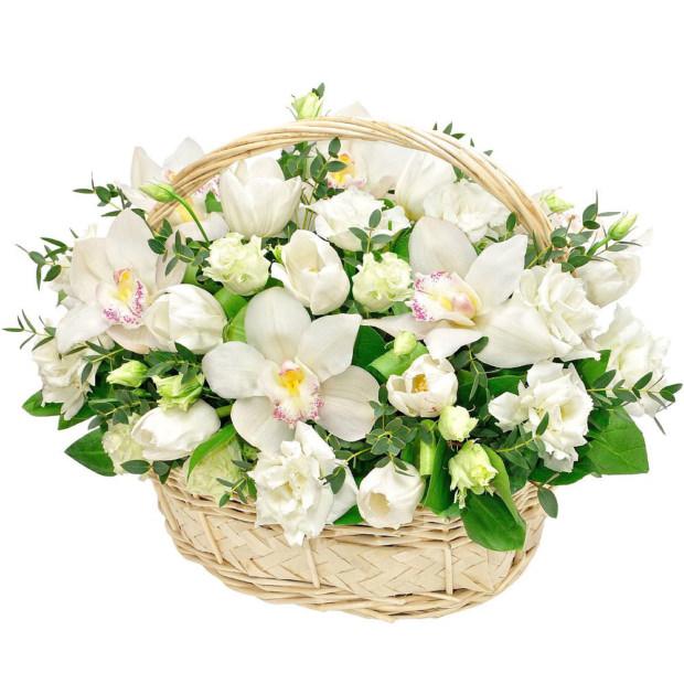 """Цветы в корзинке """"Гармония"""""""