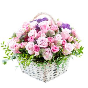 """Цветы в корзинке """"Ключ к сердцу"""""""