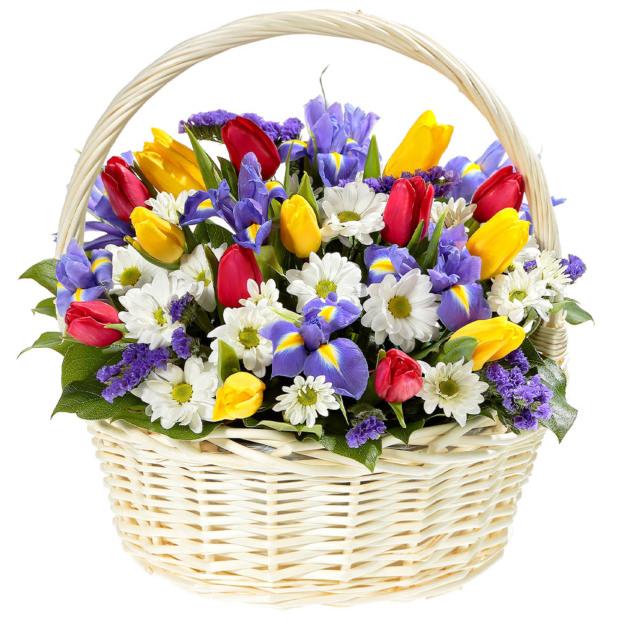 """Цветы в корзинке """"Заветная мечта"""""""